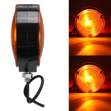 1Pcs 12V 24V Trailer Truck Double Side Yellow Maker Light Warning Lamp