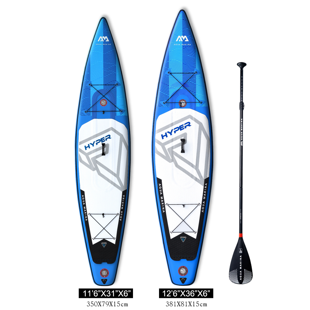 Aqua marina nouveau design Hyper BT19HY stand up paddle board gonflable SUP Paddle board Vitesse SUP COURSE conseil