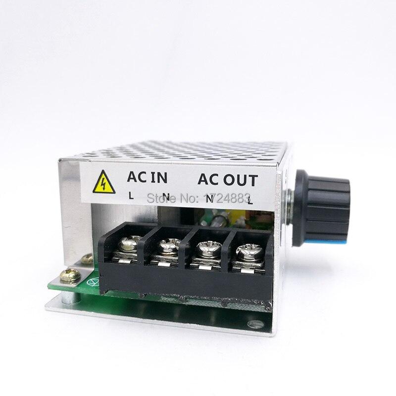 Регулятор напряжения переменного тока 220 В, контроллер скорости двигателя, ШИМ-контроллер SCR 4000 Вт, диммеры, выпрямитель