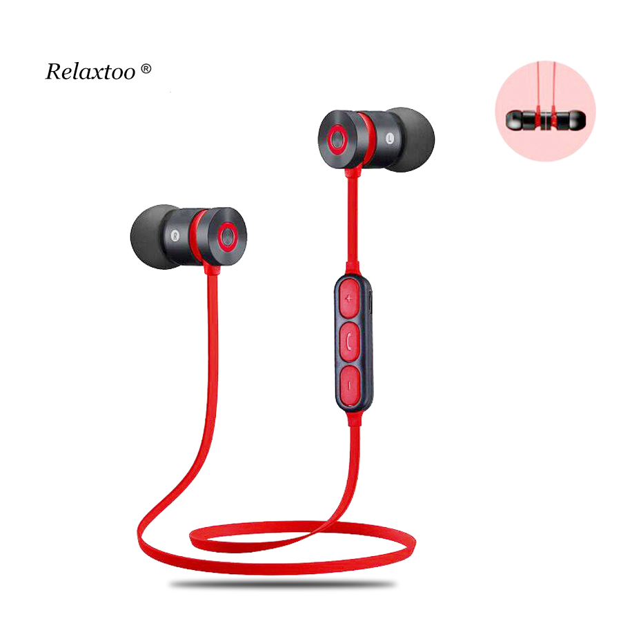 Magnetic Bluetooth earphone Wireless headphones sport Earbuds with microphone headset stereo headphone With Mic for phone