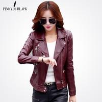 PinkyIsBlack Plus Size S 5XL Fashion 2019 Autumn Winter Women Leather Coat Female Slim Short Leather Jacket Women's Outerwear