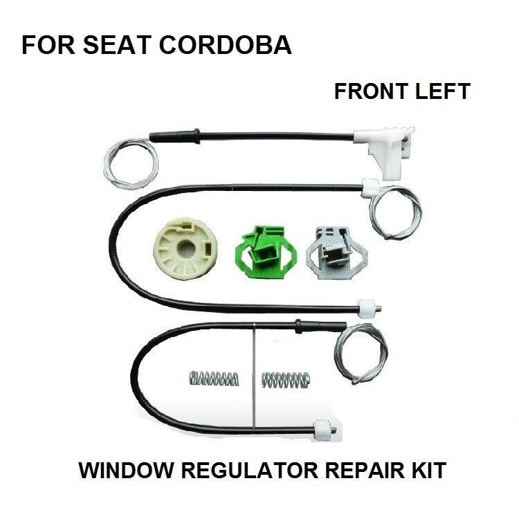 NEU 6K1 2//3 Türer Fensterheber Reparatursatz für SEAT IBIZA II Vorne Links