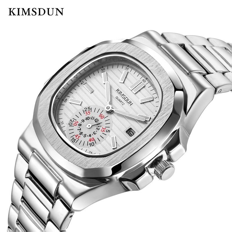 Luxury Quartz Watch Men Simple Alloy Waterproof Complete Calendar Watches Men Fashion Vintage Business Watch High Quality