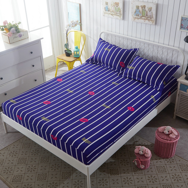 Promotion Mattress Protective Cover Dot Flower Stripe Mattress Cover Mattress Protection Pad Fitted Sheet Single Double Size