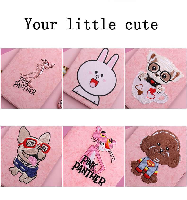 3D Cartoon Embroidery New Case cover For Apple 2016 ipad Pro 9 7 A1673 1674 A1675 case PU leather Smart Awake Sleep Flip YCJOYZW in Tablets e Books Case from Computer Office