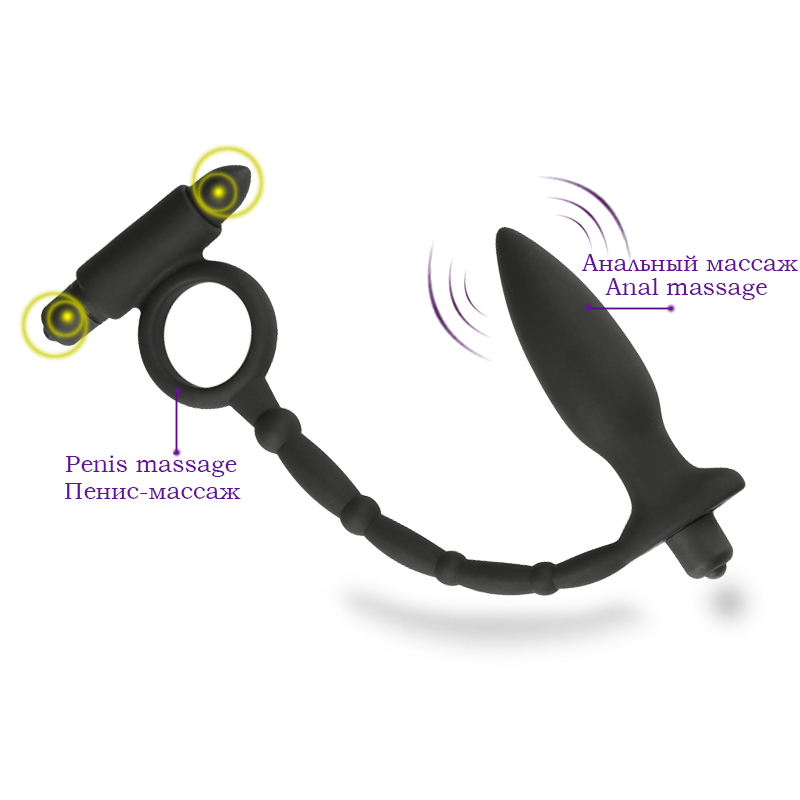 Double motor massage for your penis and anus Silicone Prostate Massager Men Vibrating Anal Sex Toys Butt Plug ,Sex product removable handle heating vibrating butt plug male prostata massage sex toys for men gay g spot anal plug usb prostate massager
