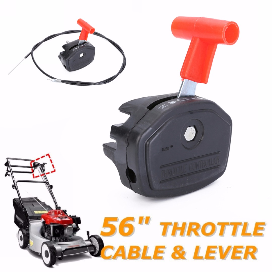 Mayitr Universal 65inch Throttle Cable Switch Lever Control Handle Kit for Lawnmower Lawn Mower Parts Garden Tools New 660v ui 10a ith 8 terminals rotary cam universal changeover combination switch