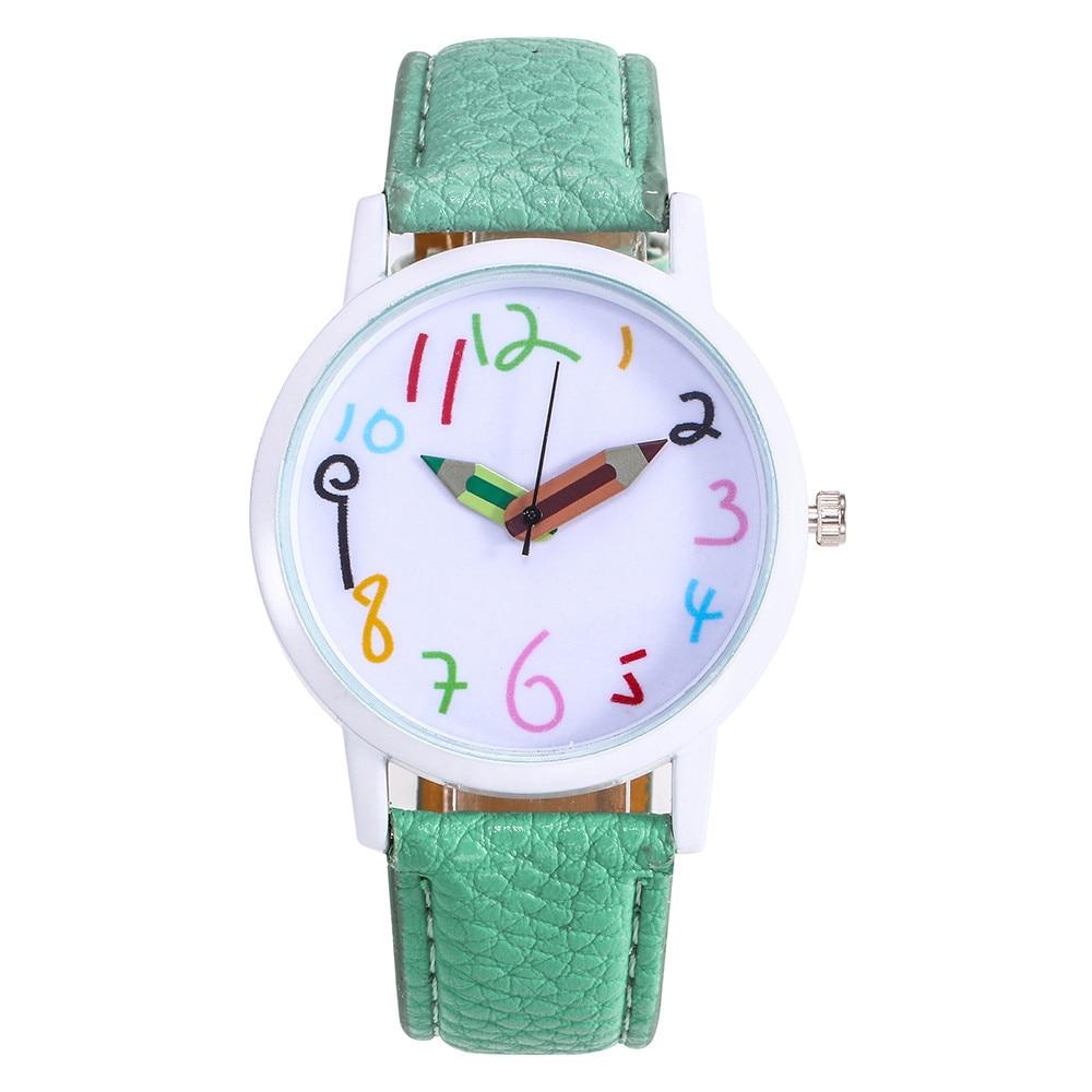 Unisex Fashion Faux Leather Band Women Men/Dial Analog Quartz Sport Wrist Watch Women Watches Bracelet Watch Ladied #4a30