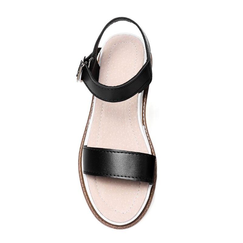 43 silver Plataforma Mujer Daidiesha Tamaño De Sandalias Fábrica Peep Zapatos 32 Beige Plana black Grande Toe Correa Tobillo 2018 Precio Sólido Señoras ZXUx1dq7