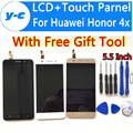 Para huawei honor 4x lcd display + touch screen digitador de vidro do painel de toque para o huawei honor 4 x hd 1280x720 5.5 polegada celular telefone