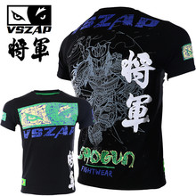 VSZAP Shogun T-shirts Fitness Men Short-sleeved T-shirt MMA General Sanda Fighting UFC Fight Muay Thai Martial Arts Workout