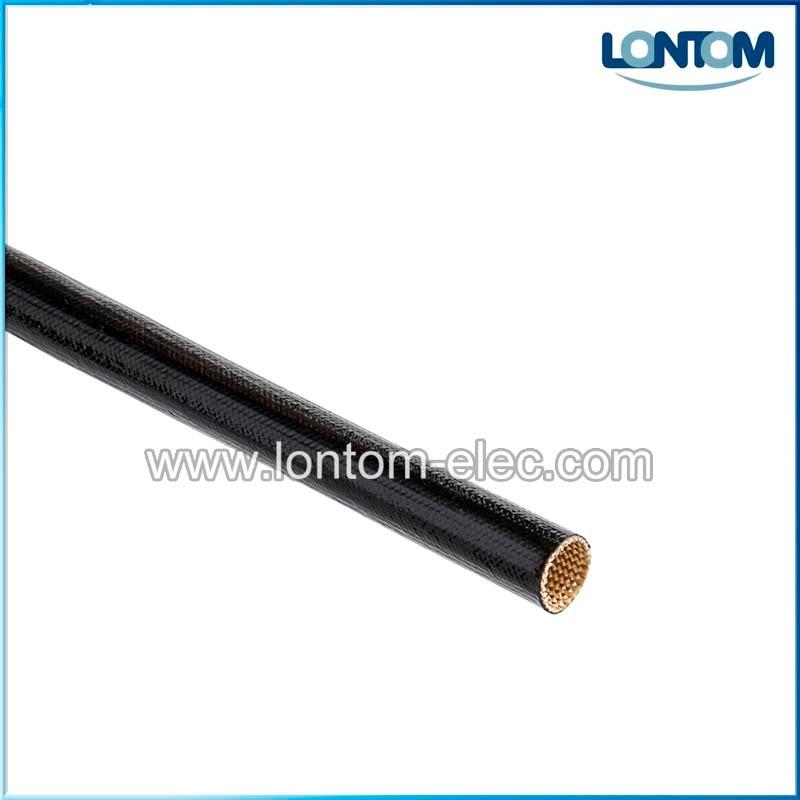 200 mètres 6.0mm 2500 V ignifuge Silicone enduit de fibre de verre gainer Grade A & C noir