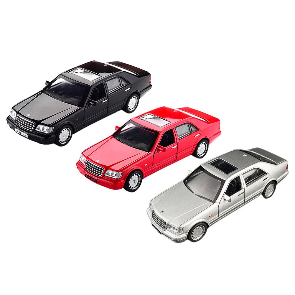 1:32 For Mercedes-Benz S-W140 Alloy Model Car Sound And Light Pull Back Toy Car Children's Educational Traffic Toy Model Car