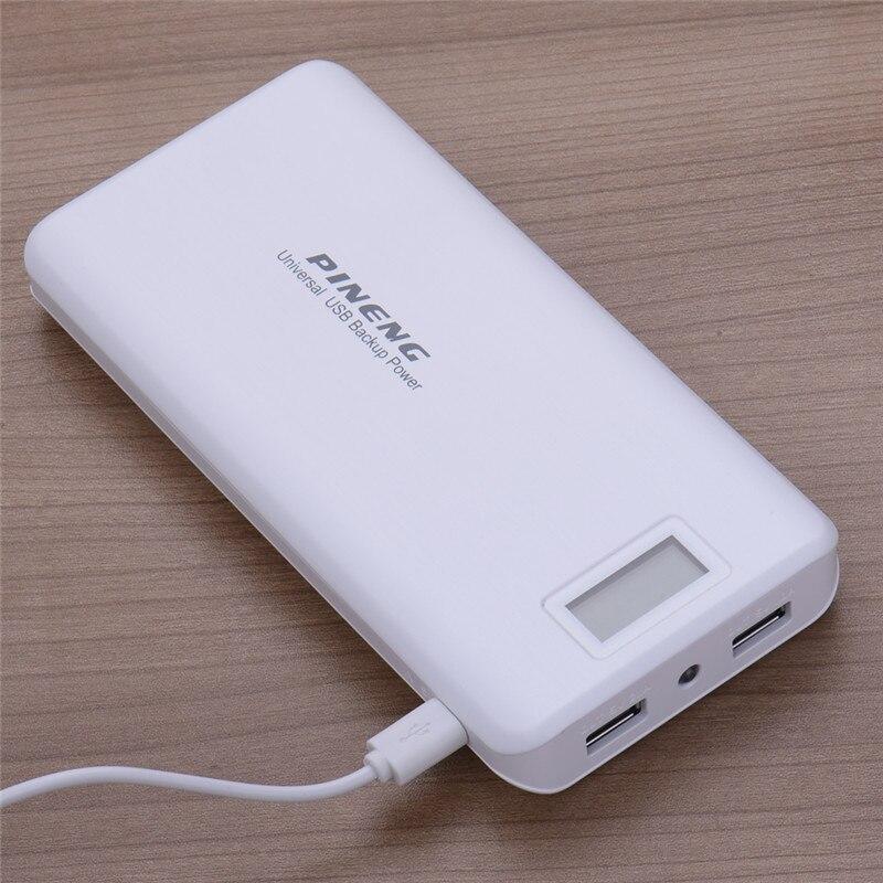 imágenes para Original lcd banco de la energía de batería externa 20000 mah portable dual usb powerbank de carga para el iphone samsung smartphone