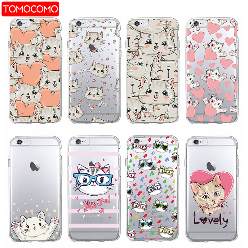 Cute Cartoon Kitty Cat Heart Stripe Lover Meow Soft Phone Case Coque For iPhone 7 7 Plus 6 6S 6Plus 8 8Plus X  XS Max SAMSUNG