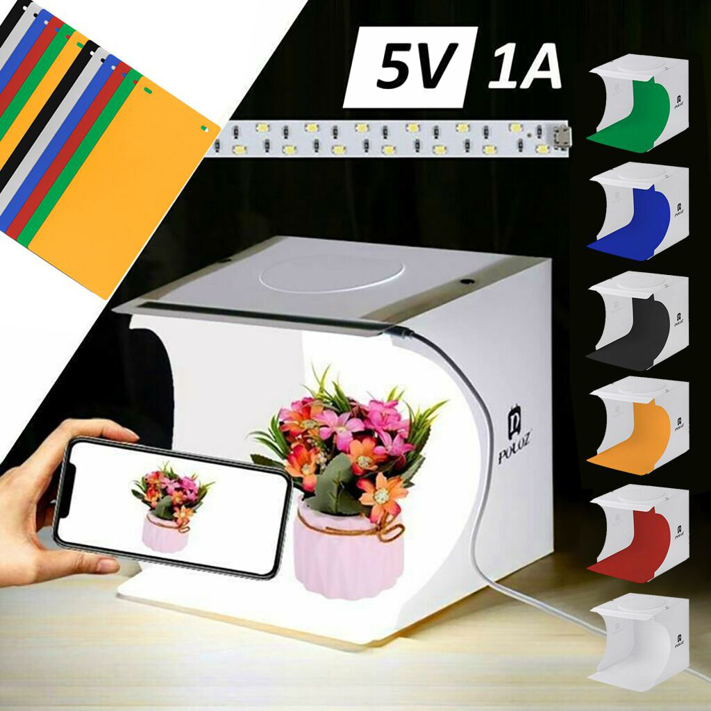 Foldable Portable Photo Mini Light Box Studio Tent Home Photography LED Lights Light Room Photography Backdrop Mini Cube Light