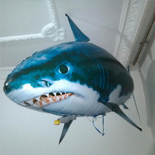 Funny Giant Kids Remote Control Balloon Flying Fish Shark RC Plastic Inflatable Blimp Animal Balloons Children