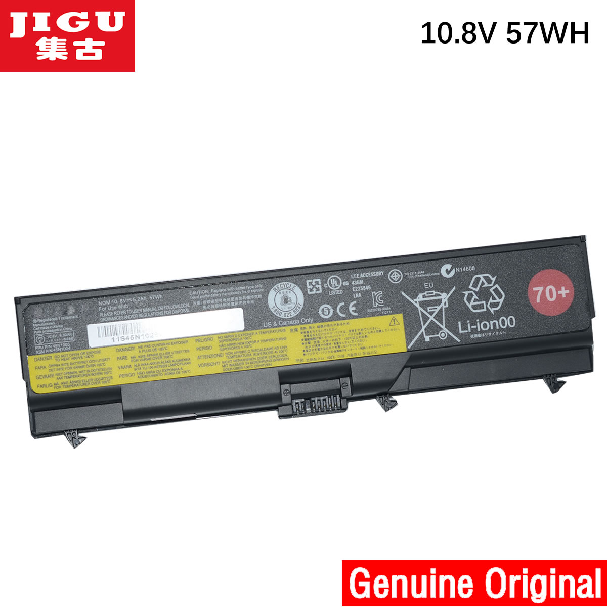 JIGU Original Laptop <font><b>Battery</b></font> For <font><b>Lenovo</b></font> Thinkpad W530 <font><b>L430</b></font> T430 T530 W530I L530 T430I T530I 48WH image