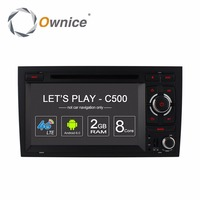 Ownice C500 Octa 8 Core 4G SIM LTE ANDROID 6.0 CAR DVD PLAYER for Audi A4 2002 2008 wifi GPS BT Radio 2GB RAM 32GB ROM