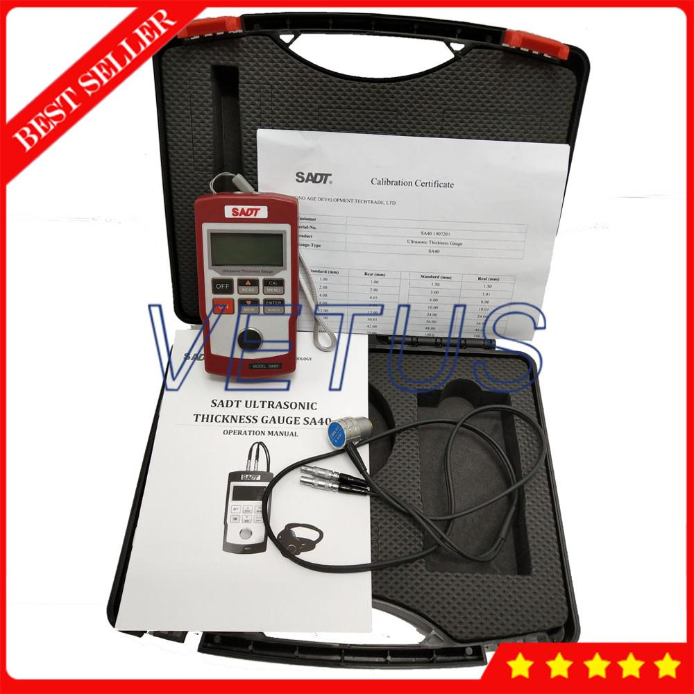 SADT SA40 Portable Digital Ultrasonic Metal Thickness Gauge Of Wall Thickness Meter Tester Velocity Measurement