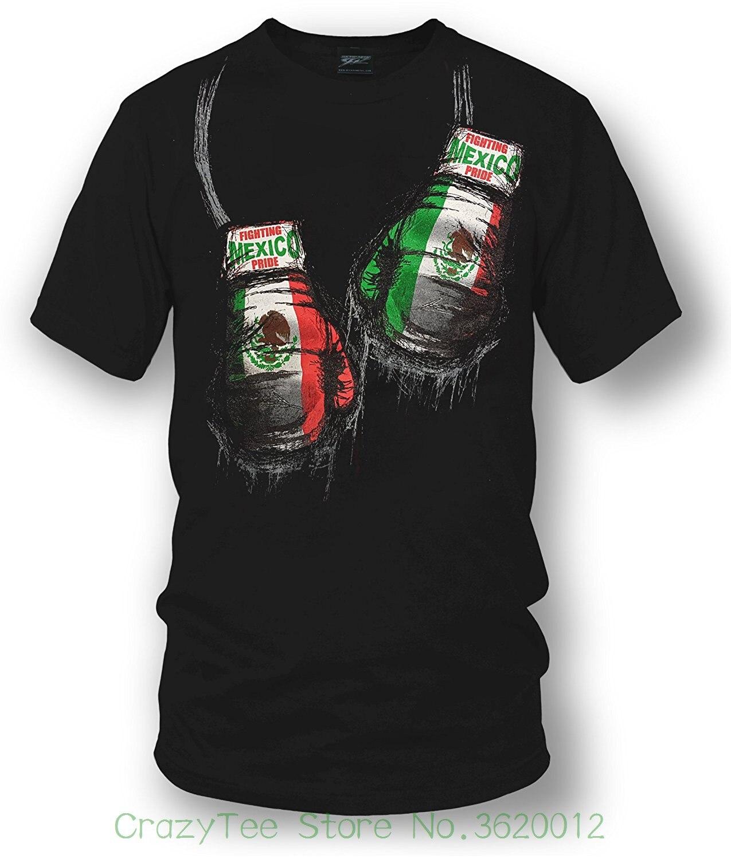 Lâche Coton T-shirts Pour Hommes Cool Tops T Chemises Mexique Chemise Boxeur, de la Fierté mexicaine-