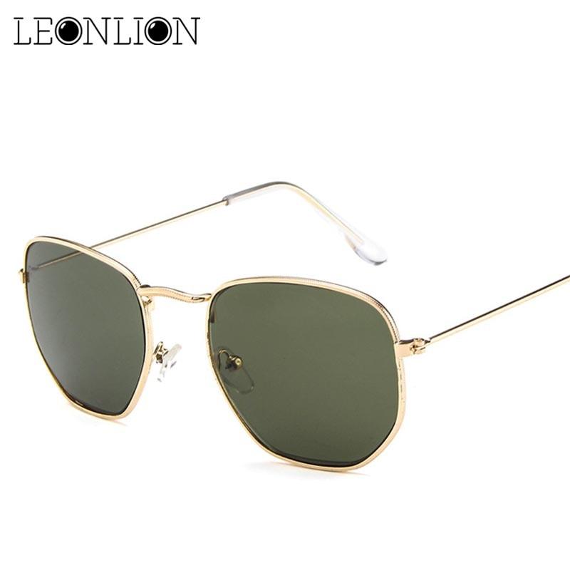 LeonLion 2018 Alloy Sunglasses Women Glasses Lady Luxury Retro Metal Sun Glasses Vintage Mirror UV400 Lunette De Soleil Femme