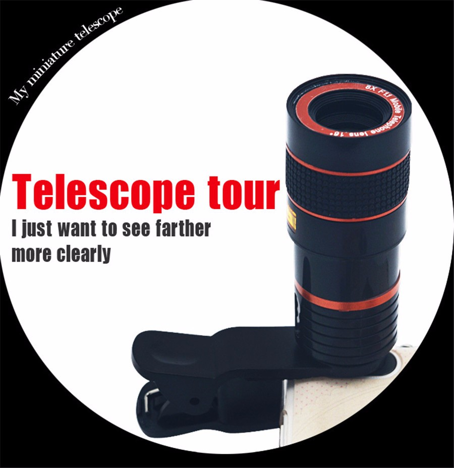 YIFUTE Lenses Universal Clip 8X Zoom Telephoto Lens HD Mobile Phone Camera Lenses For Apple iPhone 5 Samsung Xiaomi Redmi Huawei 11