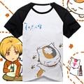 The Natsume Yuujinchou cos cat teacher cotton short-sleeved t shirt /couple shirt 5 size free shipping