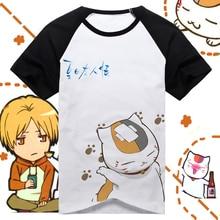 Die natsume yuujinchou cos katze Lehrer Baumwolle kurz- Ärmeln t-shirt/Paar shirt 5 size versandkostenfrei