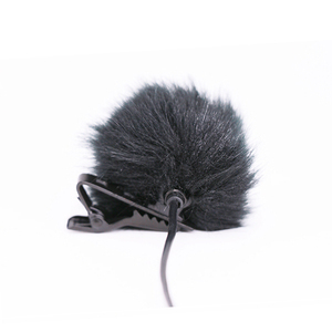 Image 5 - Dark grey Artificial Fur Microphone Windscreen Outdoor MIC Windshield Wind Muff For Lapel Microphone 1PC