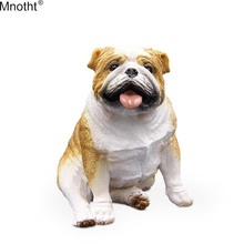 Mnotht Mini Dog Modell 1/6 Emulering British Bulldog Resin Simulering för Action Figur Toy Toy Accessory Collection Gift Mb