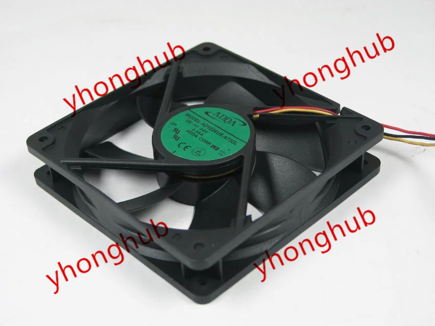 Free shipping For ADDA AD1224UX-A73GL DC 24V 0.25A 3-wire 3-pin 120x120x25mm Server Square fan free shipping 24v dc mig welding wire feeder motor single drive 1pcs