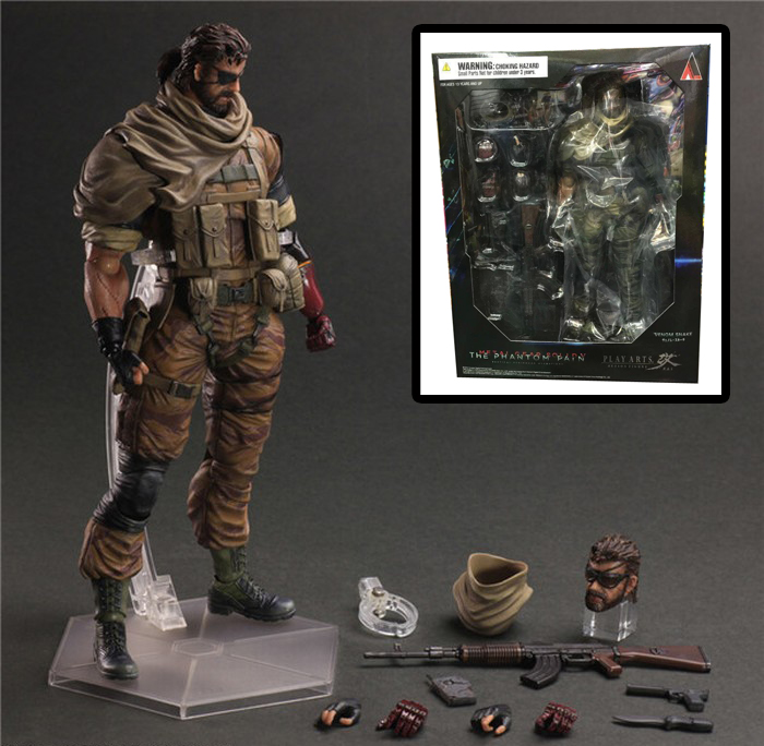 Free Shipping 11 PA KAI Metal Gear Solid V The Phantom Venom Snake Boxed 27cm PVC Action Figure Collection Model Doll Toy 25cm play arts kai metal gear solid 5 the phantom pain quiet venom snake pa pvc action figure doll toys kids gift brinquedos