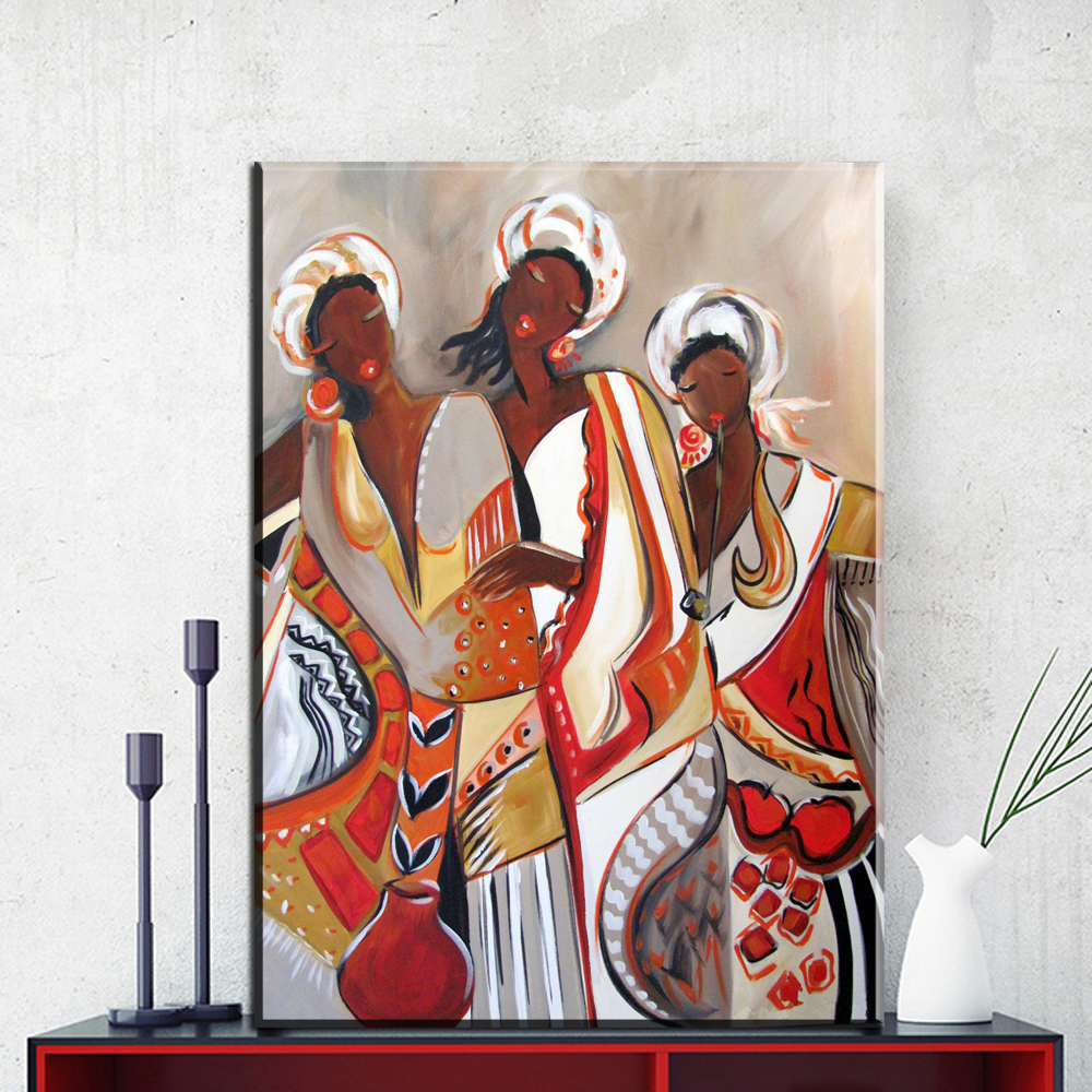 ZZ717 moderne toile art abstrait femmes africaines toile ...