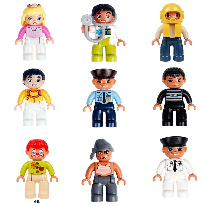1Pcs Pirate Princess doctor police Big Building Blocks Bricks Figure DIY Kids Toys Compatible with Duploe