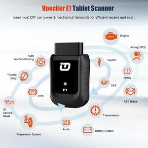 Image 3 - Автомобильный сканер Vpecker E1, оригинальный сканер с планшетом OBD2 через Wi Fi, полная система, автомобильный диагностический сканер, двигатель ABS SRS, Автомобильный сканер