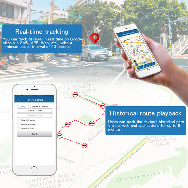 À prova d' água Rastreador GPS Do Carro Veículo Tracker TK915 12-24 V  Localizador GPS Ímã Forte 10000 mah Bateria de Longa Espera 120 Dias