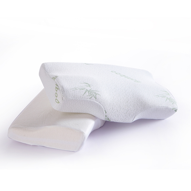 Cheap Breathable Comfort Natural Bamboo Pillow For Adults Good Sleeping Bed Pillows Bedding Body Firm Neck Support Pillow