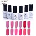 1 Bottle BORN PRETTY Soak Off UV Gel Summer Pink Series Long-lasting 5ml 12 Colors Manicure Nail Art Gel Polish