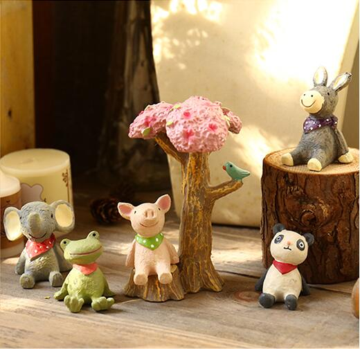 Creative Resin Small Animals Small Ornament Landscape Home & Garden Decoration Desk Lovely Household Daily Rural ZH124