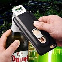 Пиво для Бутылок Футляр для iPhone 6 6 S 4.7 7-дюймовый Обратно Алюминий Металлической Крышке С Внутренней Нержавеющей Стали Нью-прибытие