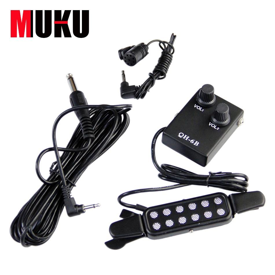 Sound Pickup QH-6B Amplifier & Speaker Guitar Pickup for all kinds of guitars guitar pick holder