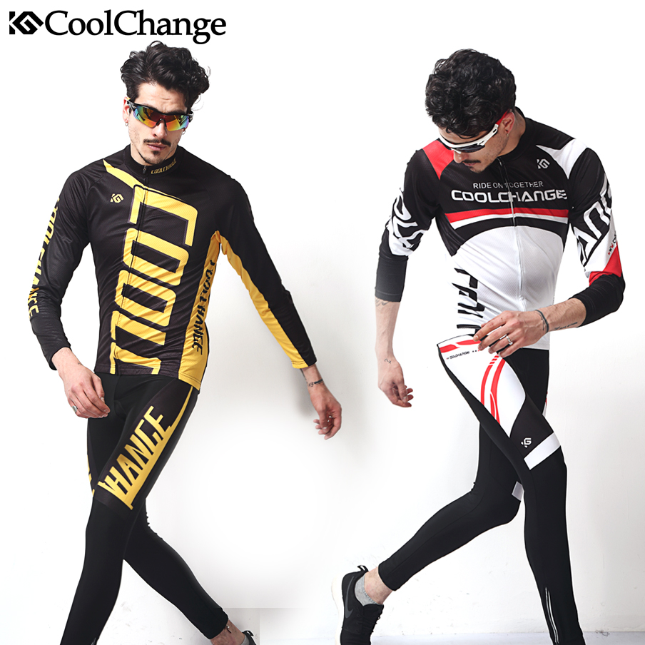 Cycling Long Sleeve Jersey for Men Bike Shirt UV Protection Bicycle Clothing