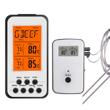 Remote Digital Meat BBQ Thermometer Kitchen Oven Food Cooking Barbecue Grill Roast Termometer Water Milk Temperature Meter Probe(China)