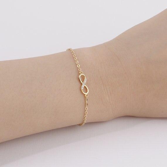 Jisensp New Fashion Cinta Infinity Gelang untuk Wanita Pribadi - Perhiasan fashion - Foto 5