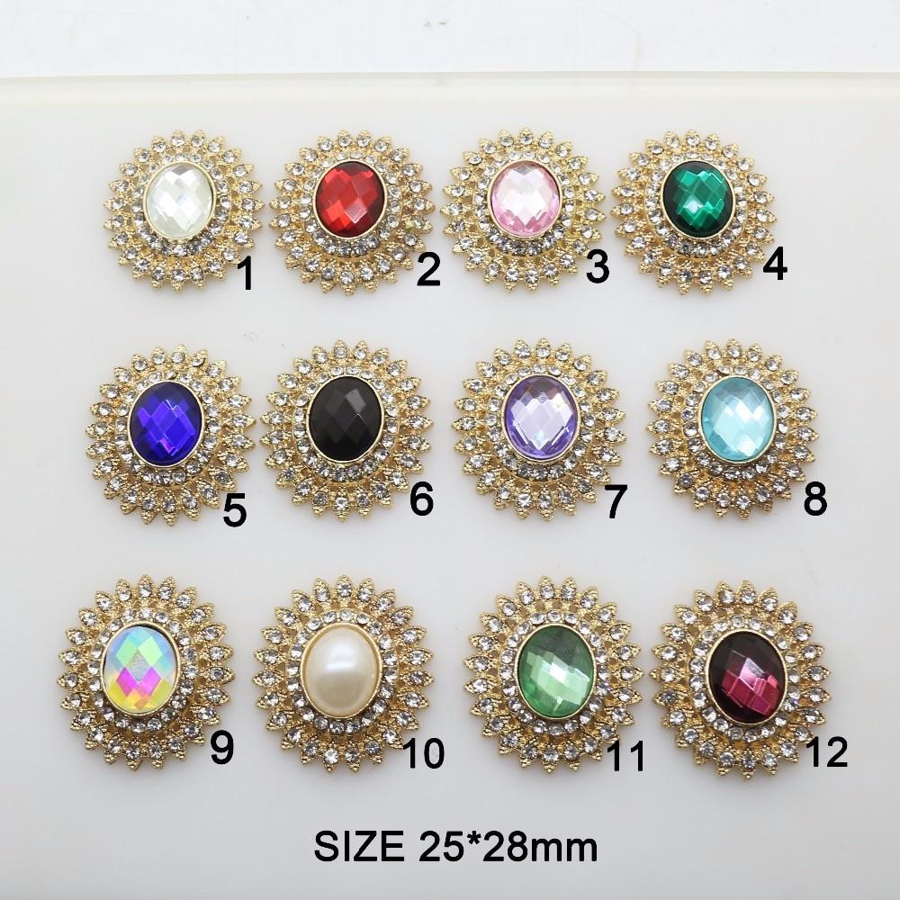Fashion Hot 10Pcs 25*28mm Alloy Diy Jewelry Accessories Flat Back Rhinestone Acrylic Base Settings Wholesale Handmade Fitting