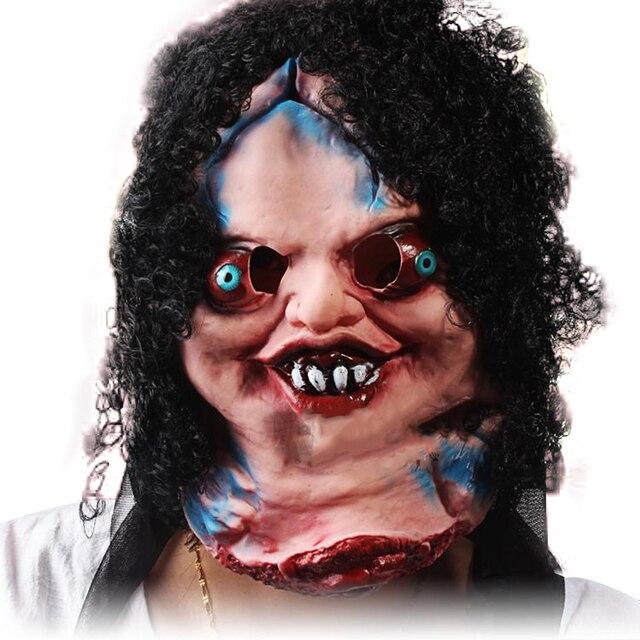 Parodia Zombie terror máscara de payaso de la boca grande de pelo negro  Cosplay cara completa 7f769f72ed3a