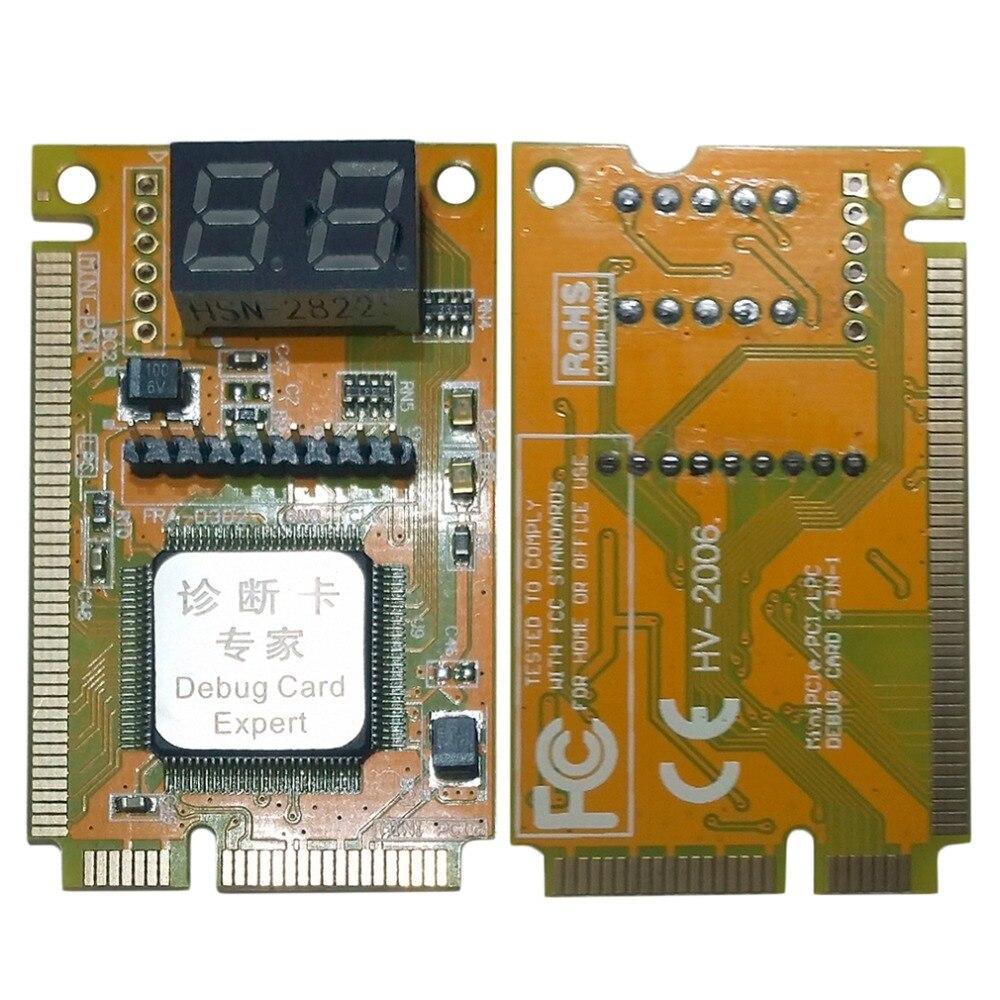 Diagnostic carte Post Test carte Debug portable MiniPCI//miniPCIe//lpc//Elpc//i2c