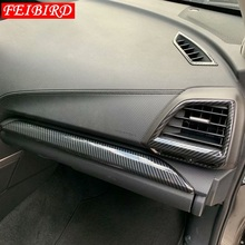 Moulures intérieures pour Subaru Forester 2019 fibre de carbone Center climatisation sortie évent décoration couverture garniture