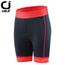 CHEJI  New Arrival Womens Cycling Shorts Sport Team Bicycle Riding Underwear Bike Padded Tight Size S-XXL